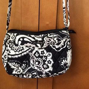 Vera Bradley Black/White Small Crossbody Bag
